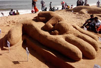 Sand Sculpting at Marina Beach