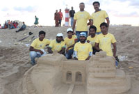 Image Students Won the IIA Sand Sculpting Competition