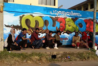 Graffiti Wall Art @ Calicut Beach, Nursing School